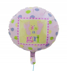 "N22 Globo c/helio ""It´s a girl"""